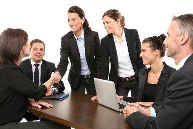meeting van zakenlui