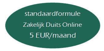 label standaardformule zakelijk Duits online